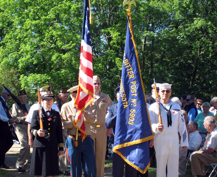 Honor guard Memorial Day Ceremony 2010 Union Cemetery